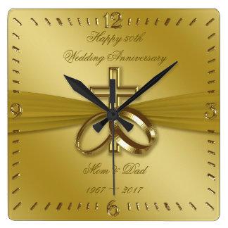 Cinquantième horloge d'or religieuse