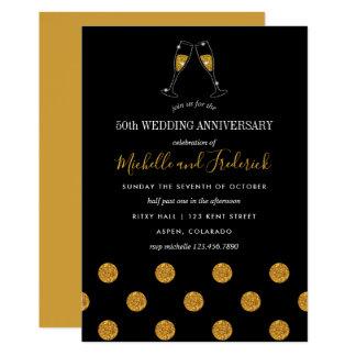 cinquantième Invitation d'anniversaire de mariage
