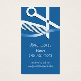Ciseaux et peigne de carte de visite de coiffeur