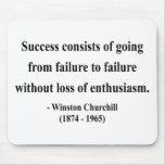 Citation 5a de Winston Churchill Tapis De Souris