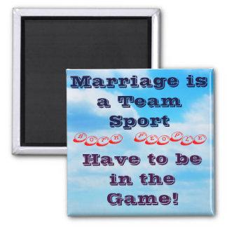 Citation de mariage magnet carré