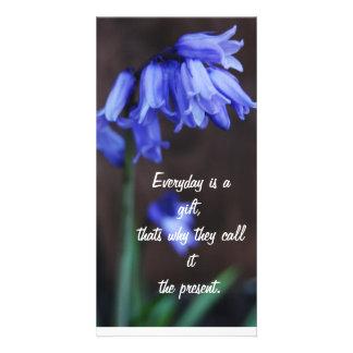 Citations - fleurs cartes de vœux avec photo