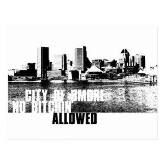 Ciy von Bmore NBA Postkarten