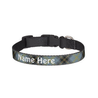 Clan-BellTartan fertigen den Namen des Haustieres Hundehalsbänder