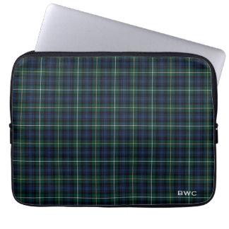 Clan Campbell des Argyll Tartan-blauen karierten Laptopschutzhülle