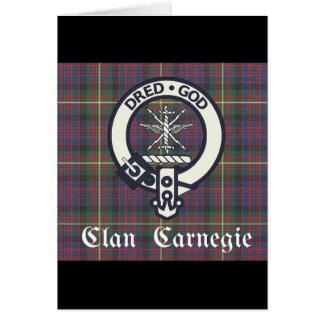 Clan-Carnegie-WappenTartan Grußkarte