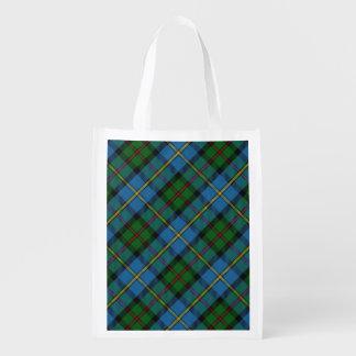 Clan écossais MacLeod de tartan de famille de Sacs D'épicerie Réutilisables