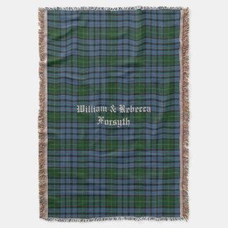 Clan Forsyth Tartankarierte kundenspezifische Decke