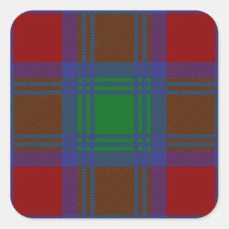 Clan-LindsayTartan Quadratischer Aufkleber