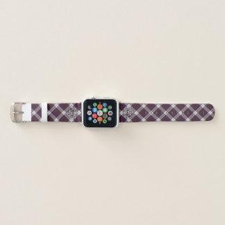 Clan MacDonald Tartan u. silberne schottische Apple Watch Armband