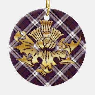 Clan MacDonald Tartanu. Imitat-Goldscottish-Distel Keramik Ornament