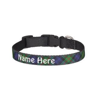 Clan-MurrayTartan fertigen den Namen des Hundehalsband