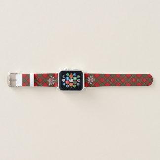Clan-StewartTartan u. schottische Distel #2 Apple Watch Armband