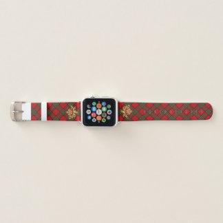Clan-StewartTartan u. schottische Distel Apple Watch Armband