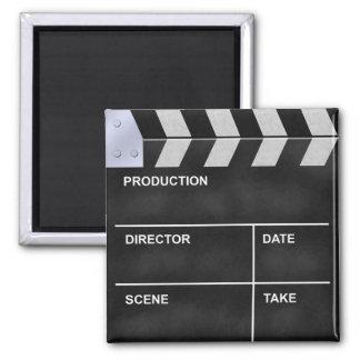 clap cinéma magnet carré