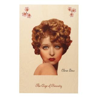 Clara Bow Holzdruck