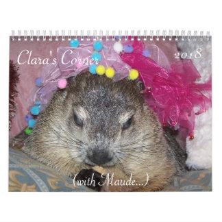 Claras EckGroundhog Kalender 2018 A