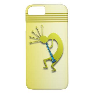 Clarinet Kokopelli im Gold iPhone 8/7 Hülle
