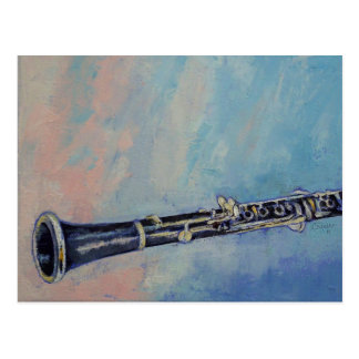 Clarinet-Malerei-Postkarte Postkarte