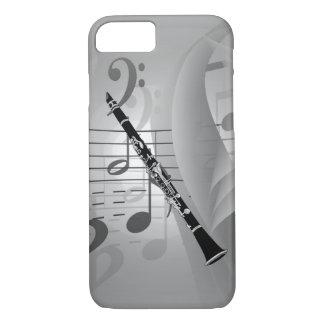 Clarinet mit musikalischen Akzenten iPhone 8/7 Hülle