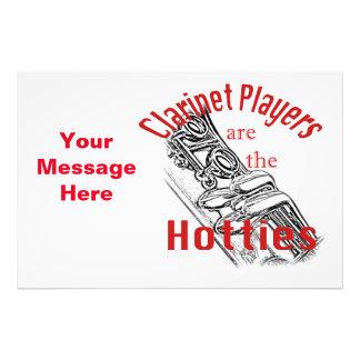 Clarinet-Musik-Musiker-Band-Einladungs-Karten Fotografien