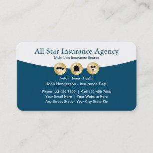 Classy Insurance Agent Visitenkarte
