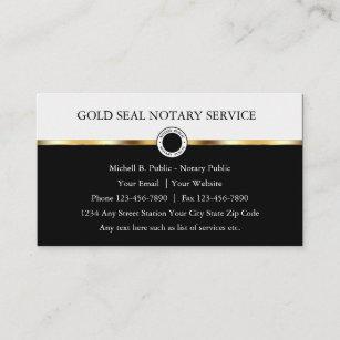 Classy Notary Public Design Visitenkarte