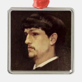 Claude Debussy 1886 Quadratisches Silberfarbenes Ornament - claude_debussy_1886_ornament-r1ebe1486d894474b819bf0d56d76d58b_x7s2p_8byvr_324