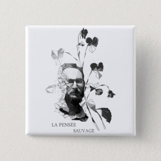 Claude Levi-Strauss Quadratischer Button 5,1 Cm