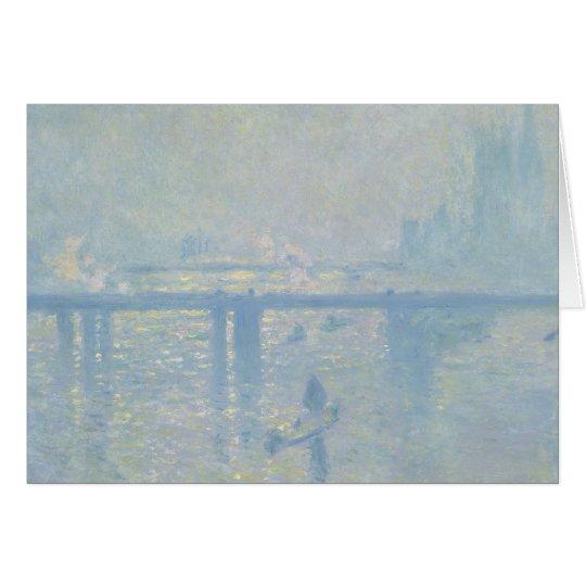 Claude Monet - Charing Querbrücke Grußkarte