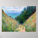 Claude Monet : Chemin à la La Cavee Pourville Affiches