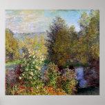 Claude Monet - coin du jardin chez Montgeron