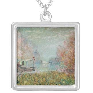 Claude Monet | das Boots-Studio auf der Seine, Versilberte Kette