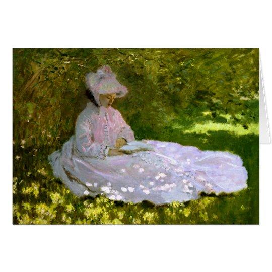 Claude Monet: Der Leser Grußkarte
