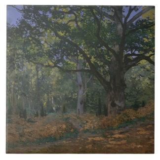 Claude Monet - die Bodmer Eiche, Fontainebleau Keramikfliese