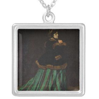 Claude Monet | die Frau im grünen Kleid, 1866 Versilberte Kette