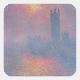 Claude Monet | die Häuser des Parlaments, London Quadratischer Aufkleber