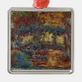 Claude Monet | die japanische Brücke Silbernes Ornament