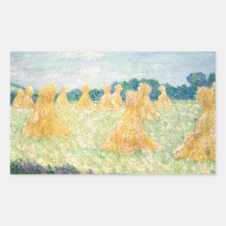 Claude Monet - die jungen Damen von Giverny Rechteckiger Aufkleber