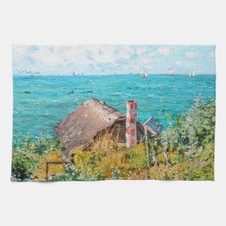 Claude Monet die Kabine an Heiliges-Adresse Geschirrtuch