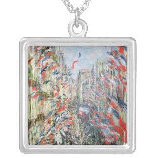 Claude Monet | die Rue Montorgueil, Paris Versilberte Kette