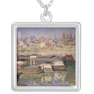 Claude Monet | die Seine bei Asnieres, 1873 Versilberte Kette
