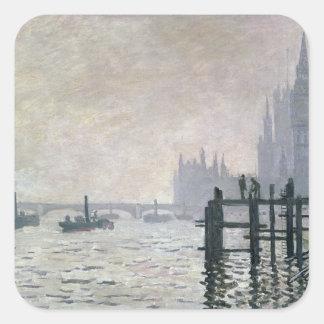 Claude Monet | die Themse unter Westminster Quadratischer Aufkleber