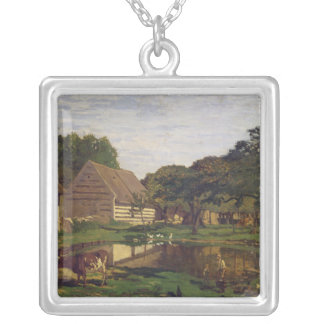Claude Monet | ein Hof in Normandie Versilberte Kette