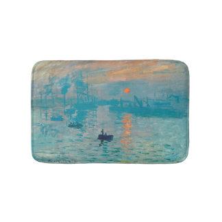 CLAUDE MONET - Eindruck, Sonnenaufgang 1872 Badematte
