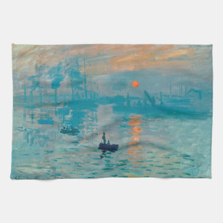 CLAUDE MONET - Eindruck, Sonnenaufgang 1872 Küchentuch
