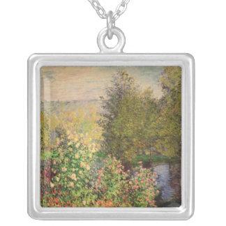 Claude Monet | eine Ecke des Gartens bei Montgeron Versilberte Kette