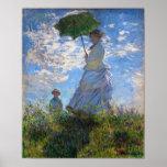 Claude Monet : Femme avec un parasol Affiche