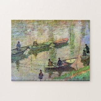 Claude Monet - Fischer auf der Seine bei Poissy