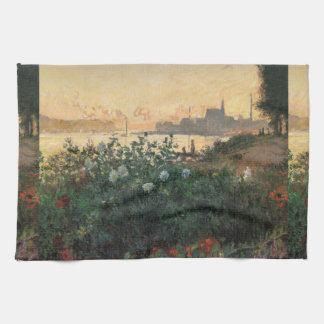 Claude Monet - geblühter Riverbank, Argenteuil Handtuch